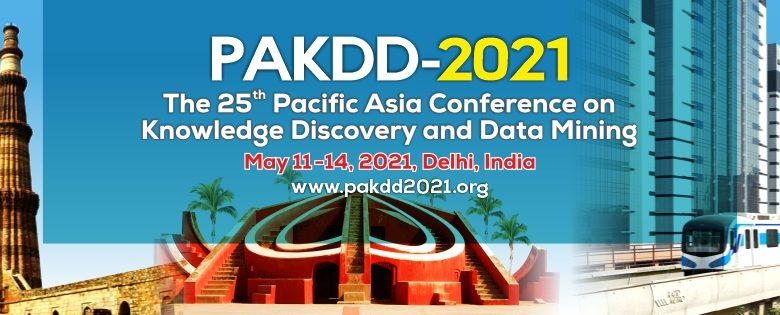 One of the longest established and leading international conferences in the areas of data mining and knowledge discovery PAKDD-2021 now to be held online from May 11
